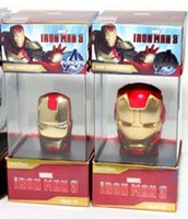 Wholesale 10pcs Cartoon Avengers Iron Man silver gold Metal usb flash drive GB GB GB GB GB GB GB USB Flash Memory Stick Drive pendrive