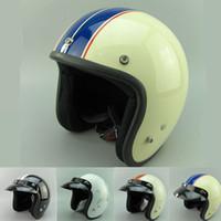 El casco libre del casco del verano 2015 ABIERTA el casco S de la motocicleta de la vendimia de la CARA S M L XL XXL Piloto que compite con los cascos