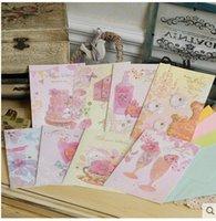 al por mayor patrones valentín gratuitas-2016 Nuevas tarjetas de cumpleaños de la gratitud Las tarjetas de la tarjeta del día de San Valentín Tarjetas de felicitación universales encantadoras de la tarjeta de felicitación Los patrones verdaderos 5pcs / lot liberan el envío