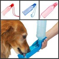 Cheap Potable Pet Dog Cat Water Feeding Drink Bottle Dispenser 500ml Pet Water Dispenser Blue Red Pink