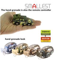 Wholesale Mini RC car wd in Grenade Radio Remote Control Military Toy cars Brithday Special day gift for Children Kids Automobiles