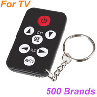 Wholesale Universal Remote Controller Mini AV TV Keychain Keyring Back and mix color suitable for around brands TV gadget