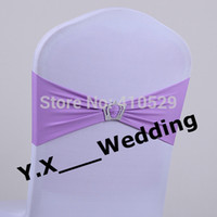 band lilacs - Lilac Color Chair Band With Buckle Spandex Lycra Chair Band For Wedding Chair Cover