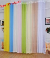 drapes curtains - Romantic Home Decorative Luxury Sheer Voile Tulle Window Panel Drape Curtain Door Room Divider Blinds Curtains
