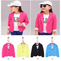animal blazer - Child Casual Kids Girls Outerwear Suit Candy Color Blazers Slim Fit Jackets Y and Drop Shipping