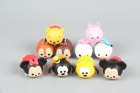 figurines - 10pcs Mini Figure Figurine Mickey Minnie Donald Pooh Pluto Tsum Tsum Nice Collection figure cake topper