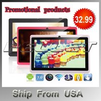 Wholesale Dual Core inch Q88 Tablet pc Dual camera Android Allwinner A23 Ghz MB GB