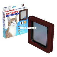 Wholesale 1509 PET MATE LOCKABLE DOOR FLAP WHITE OR BROWN FOR A KITTEN CAT PUPPY SMALL DOG
