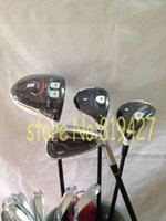 Wholesale 2015 R15 full set R15 driver R15 fairway woods Rsi1 irons Rsi irons set PAS set RH golf clubs come headcover