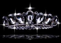 Wholesale Crystal Bridal Wedding Crown Romantic Moon Shaped Rhinestone Bridal Tiaras Handmade Bridal Accessories Drop Shipping