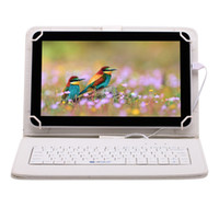 Wholesale US Stock iRULU inch Tablet PC Quad Core Android Allwinner A33 GB GB Dual Camera Bluetooth Bundle Keyboard Case