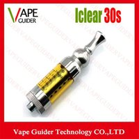 Cheap hot iclear30s Atomizer Replaceable Duil Coil Clearomizer 3.0ml Itaste Iclear 30s tank for EGO Electronic Cigarette free DHL vg007