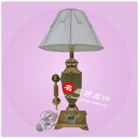 antique phone tables - T02073 large table lamp telephone Collectibles Jade European Craft Antiques Top phone name Sen jewelry line