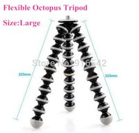 Wholesale Large Octopus Tripod Digital Camera Tripod Rotational Flexible Camera Monopod With to Adapter Screw for DC Camera order lt no tr