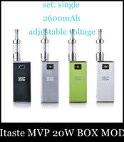 2600mAh iTaste MVP 20W Single 2015 Top Fashion Sale Innokin Itaste Mvp 20w Box Mod Authentic Variable Voltage Wattage Battery with Oled Display Beat Dna30isticktz188