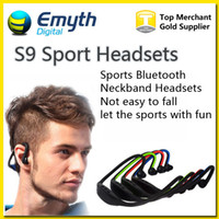 For Blackberry Bluetooth Headset Wireless Bluetooth Headphone S9 Wireless Stereo Headset Sports Bluetooth Speaker Neckband Earphone Bluetooth 4.0 With Retail Package For iPhone