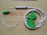 Wholesale splitter plc sc apc x8 Mini type PLC optical fiber splitter plc plc splitter sc apc ftth solution