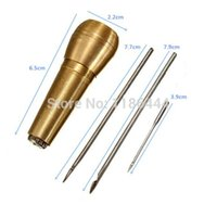 bathroom tent - 3 Needles Canvas Leather Tent Sewing Awl Hand Stitcher Leathercraft Kit Tool Hot P6A