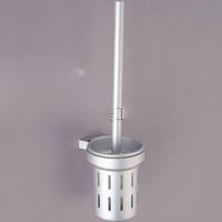 toilet brush - Matt Silver Aluminum space frame Toilet white Toilet Brush Holder bathroom hardware accessories