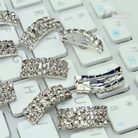 Wholesale 100pcs Bag Charming Diamante Rhinestone Buckle Slider Ribbon Wedding Decoration