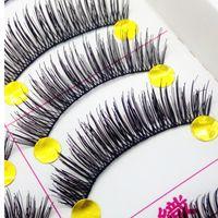 Wholesale 2015 Hot items Pairs piece Natural Long Style Crisscross False Eye Lash Eyelashes Hand made