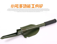 Wholesale Multifunctional shovel outdoor camping supplies folding shovel equipped army fan EDC Mini trumpet shovel