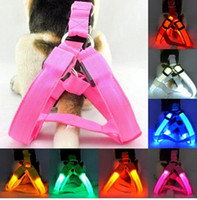 nylon rope - LED Nylon Collar Led Glow Flash Light Dog Puppy Belt Harness Leash Tether Pet Safety Collar Rope L013