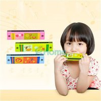 Wholesale New Funny Wooden Harmonica Kids Music Instrument Educational Child Attractive Toy
