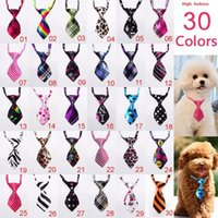 Wholesale Small Bows Wholesale - 100pcs Lot New Arrival Pet Dog Neckties Bowtie Wholesale Mix 30 New Patterns Polyester Cute Dog Bow Tie Dog Grooming Products