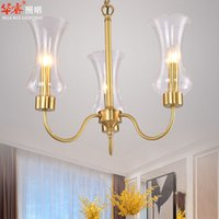 american lighting fixtures - Homy Chandeliers Brief Pendant Lamp Transparent Glass Hanging Lights Contemporary American Style Lights Fixtures Bedroom Hotel Room v