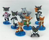 Wholesale Tom and Jerry kids toys Cute Cartoon Action Figures boys girls gift Speike Toy pvc Collection Set DHL doll