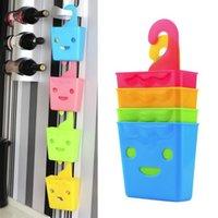 Wholesale Multi Purpose Plastic Smile Face Hanging Storage Basket Rack Organizer
