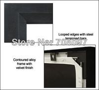 aluminum screening material - HD D fixed frame screen D metal soft material Aluminum Frame with Black velevt