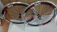 Wholesale High Quality mm EASTON EC90 carbon fiber wheels with alloy braking surface C clincher rim with Powerway Ceramic R36 hub
