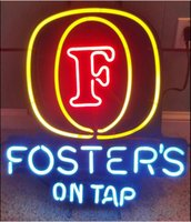 beer taps - Revolutionary Christmas Gifts FOSTER S ON TAP Neon Beer Signs v02 quot x15 quot Available multiple Sizes