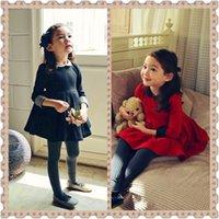 Cheap Korean children's clothing 2014 autumn models girls elegant fashion dress children dress girls lapel Sleeve