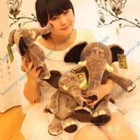 plush elephant - Hot Sale plush toy elephant doll lifelike elephants creative children s toys baby birthday Christmas gift cm