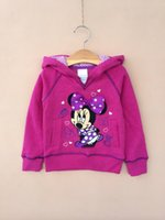 Cheap Miki Minnie Mouse Autumn Children Girls Hoodies Kids Clothing 2014 Long Sleeve Pocket Sweatshirts Childs Cartoon Butterfly Dots Tops H1843
