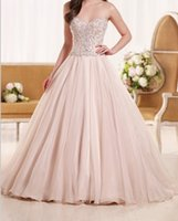 amazing xmas gifts - Amazing Sweetheart Lace Appliques A Line Princess Pearl Pink Bridal Gowns Collection Hot Design Online Price Xmas Gift