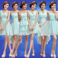 Wholesale new bride dresses bridesmaid dresses wedding toast wedding dresses blue dress short paragraph