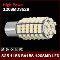 Wholesale 2 x New SMD LED BA15S P21W External Lamp Turn Signal Brake Parking light led bulb for Car Motorcycles V order lt no track