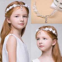 Cheap Newest Junior Bridesmaid Bride Accessories Headband Hairwear Crystal Children Hair Wedding Accessories Rhinestone Girls Head Pieces