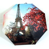 Wholesale 60pc Rose Oil Painting Umbrella Romantic Folding Classic Anti uv Sun Rain Durable Automatic Umbrella Z00379