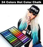 Wholesale Colors Fashion Hair Chalk Fast Non toxic Temporary Pastel Hair Dye Hair Color Set tiggou2