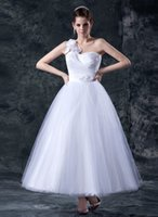 gothic wedding dresses - Sexy Romantic Spring Ball Gown Dresses Sweetheart One Shoulder Corset Tulle Pleats Flowers Wedding Gowns Ball Gothic Wedding Dress