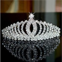 Wholesale The bride the wedding dinner royal crown headdress crystal hair dressing full dress hair hoop performance goes together with a decoration