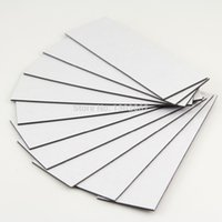 Wholesale 10pcs Self Adhesive Flexible Magnetic Sheet x30x1mm Rubber Magnet Car Ad Magnets