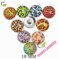 american free press - new fashion lovely Press Buttons Fit DIY Snap Button Bracelet Leopard Print Mixed mm best gifts