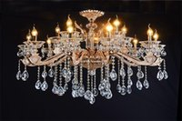 Wholesale imitation jade zinc alloy crystal chandeliers European chandeliers chandeliers villas senior clubs lights