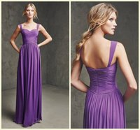 Cheap Purple Elegant Long Bridesmaid Gowns Sweetheart A-Line Sexy Open Back Evening Gowns Prom Dress Celebrity Dress Red Carpet Gown Plus Size ZYY